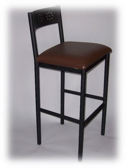 Barstool Solid Back