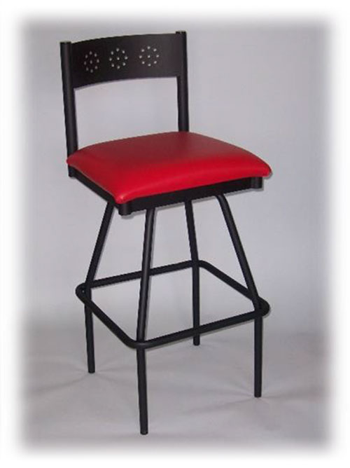 Barstool Teepee Swivel Solid Back
